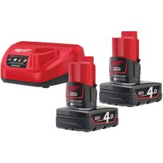 MILWAUKEE M12 NRG-402 - CARREGADOR M12 + 2 BAT 12V 4Ah